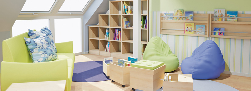 Dusymas funktionsraum lesebereich for Raumgestaltung schule