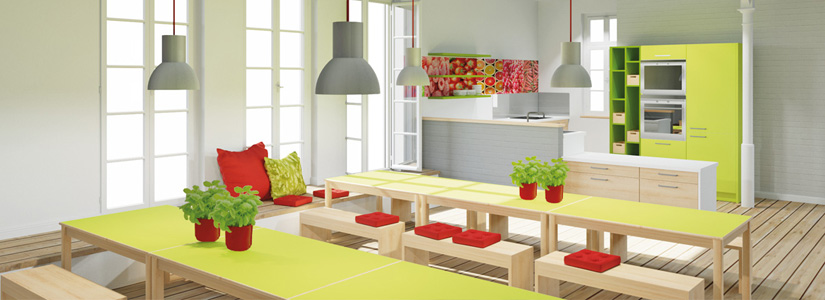 Dusymas funktionsraum kinderrestaurant for Raumgestaltung cafe