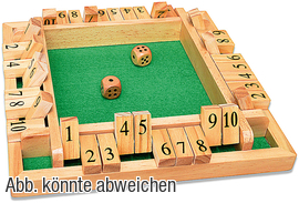 Shut the Box Deluxe Set Artikelbild Vorderansicht M