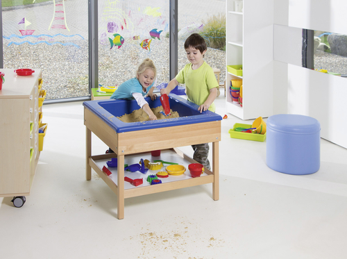 sand und wassertisch forscherlabor. Black Bedroom Furniture Sets. Home Design Ideas