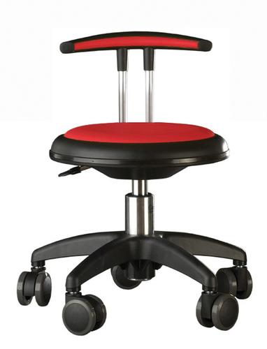 rollhocker mit lehne flach rot personalst hle. Black Bedroom Furniture Sets. Home Design Ideas