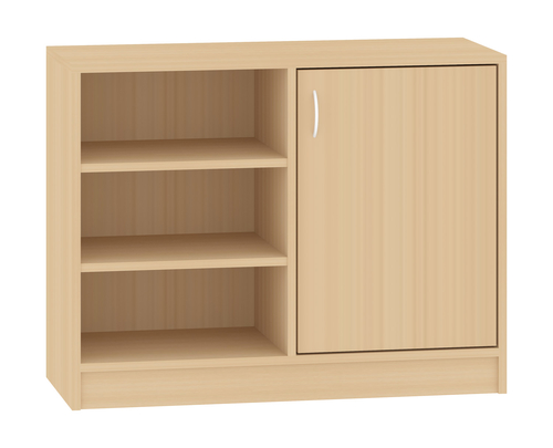 schrank mit 1 t r schr nke und stauraum. Black Bedroom Furniture Sets. Home Design Ideas