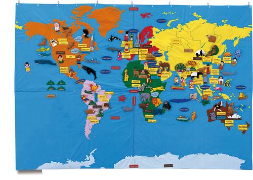 Riesen Weltkarte Welt Und Weltall